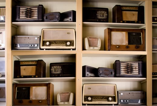 Picture of old radios