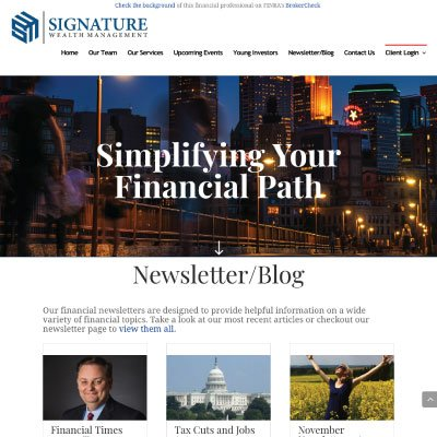 Thumbnail of the https://signaturewealth.com website by Anchor Websites, LLC