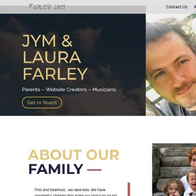 Thumbnail of the https://farleyjam.com website by Anchor Websites, LLC